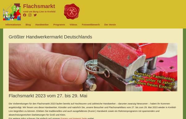 Vorschau von www.flachsmarkt.de, Flachsmarkt rund um Burg Linn