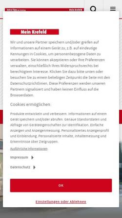 Vorschau der mobilen Webseite www.stadt-spiegel-krefeld.de, Stadt-Spiegel Krefeld