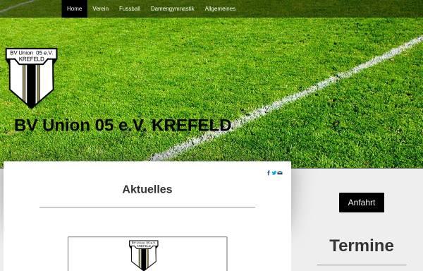 Vorschau von www.bvu05.de, BV Union 05 Krefeld e.V.