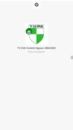 Vorschau der mobilen Webseite www.djk-oppum.de, DJK Germania Oppum 1922 e. V.