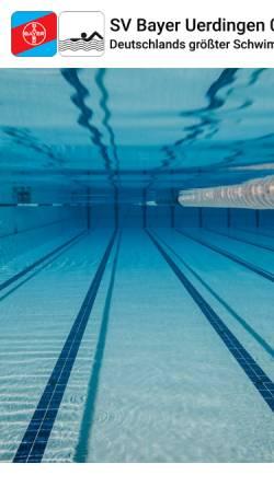 Vorschau der mobilen Webseite www.svbayer08.de, Schwimmverein Bayer Uerdingen 08 e.V.
