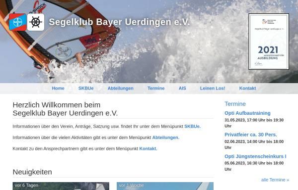 Vorschau von www.skbue.de, SKBUe - Segelklub Bayer Uerdingen e.V.