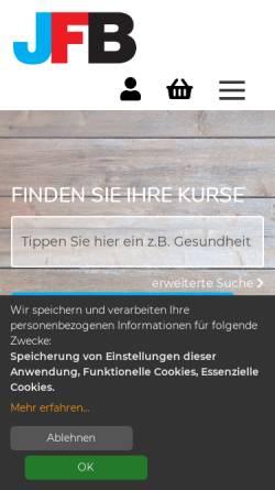 Vorschau der mobilen Webseite www.jfb-stadtlohn.de, JFB Jugend- und Familienbildungswerk e.V.