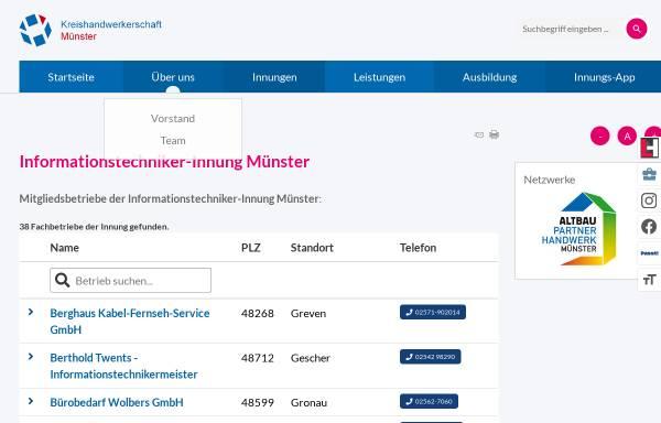 Vorschau von www.it-innung-muenster.de, Informationstechniker-Innung Münster