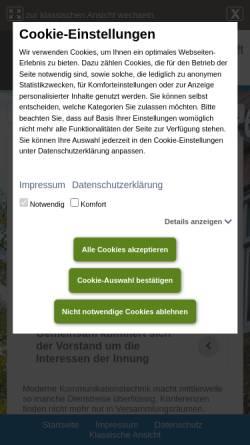 Vorschau der mobilen Webseite www.it-innung-muenster.de, Informationstechniker-Innung Münster