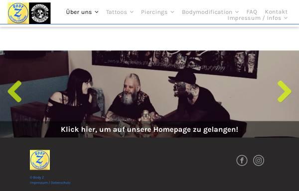 Vorschau von www.tattoo-z.de, Body Z und Tattoo Z