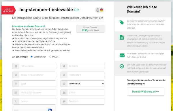Vorschau von www.hsg-stemmer-friedewalde.de, HSG Stemmer/Friedewalde GbR