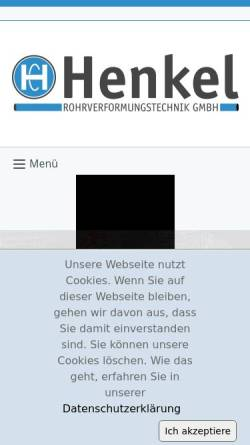 Vorschau der mobilen Webseite www.henkel-gmbh.de, Henkel Rohrleitungsbau GmbH