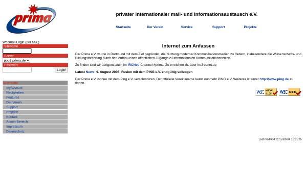 Vorschau von www.prima.de, Prima e.V.