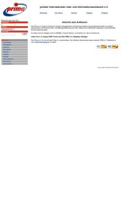 Vorschau der mobilen Webseite www.prima.de, Prima e.V.