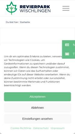 Vorschau der mobilen Webseite www.wischlingen.de, Revierpark Wischlingen