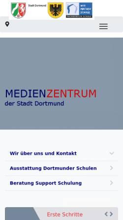 Vorschau der mobilen Webseite mz.do.nw.schule.de, Medienzentrum der Stadt Dortmund