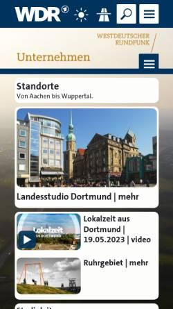 Vorschau der mobilen Webseite www.wdr.de, WDR Studio Dortmund
