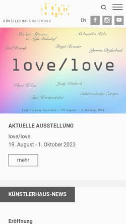 Vorschau der mobilen Webseite kh-do.de, Künstlerhaus Dortmund