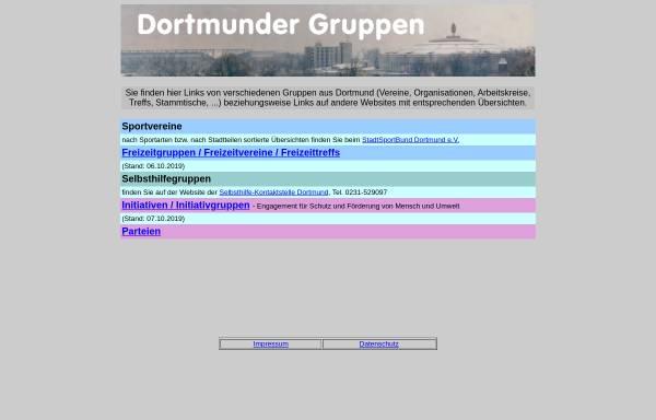 Vorschau von www.do-kontakt.de, Dortmunder Gruppen