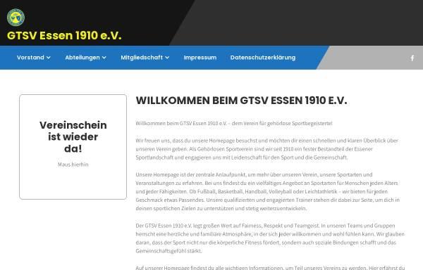 Vorschau von www.gtsv-essen.de, Gehörlosen-Turn- und Sportverein 1910 Essen e.V.
