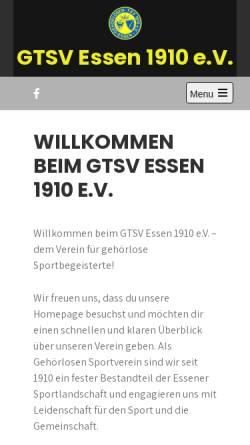 Vorschau der mobilen Webseite www.gtsv-essen.de, Gehörlosen-Turn- und Sportverein 1910 Essen e.V.