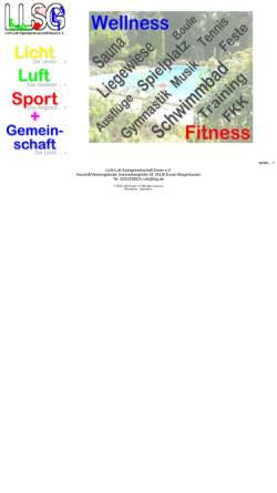 Vorschau der mobilen Webseite www.llsg.de, Licht-Luft-Sportgemeinschaft Essen e.V.