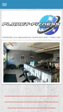 Vorschau der mobilen Webseite www.planet-fitness-ge.de, Planet Fitness