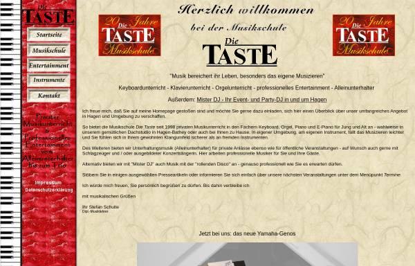 Vorschau von www.dietaste.de, Musikschule Die Taste