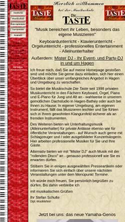 Vorschau der mobilen Webseite www.dietaste.de, Musikschule Die Taste