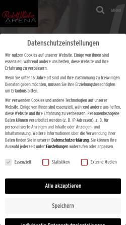 Vorschau der mobilen Webseite www.koenig-pilsener-arena.de, König-Pilsener-Arena