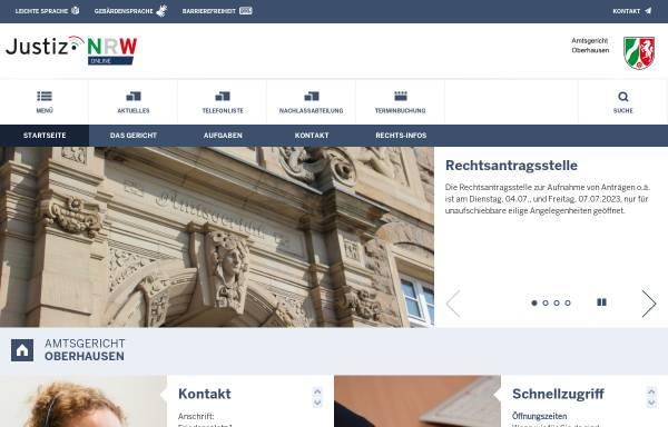 Vorschau von www.ag-oberhausen.nrw.de, Amtsgericht Oberhausen