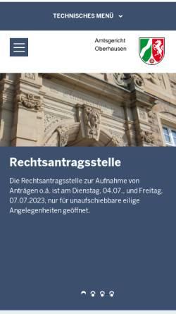 Vorschau der mobilen Webseite www.ag-oberhausen.nrw.de, Amtsgericht Oberhausen