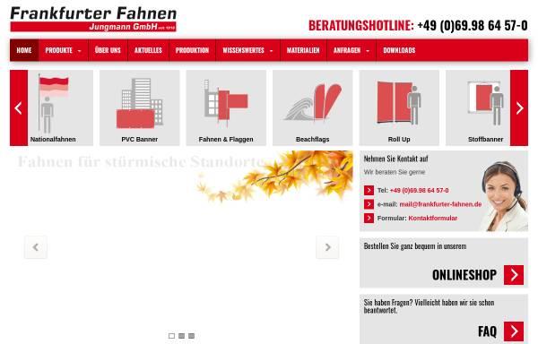 Vorschau von www.frankfurter-fahnen.de, Frankfurter Fahnen Jungmann