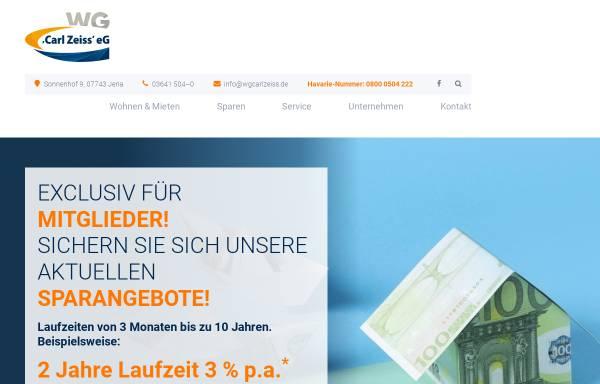 Vorschau von www.wgcarlzeiss.de, Wohnungsgenossenschaft Carl Zeiss eG