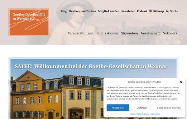 Vorschau von www.goethe-gesellschaft.de, Goethe-Gesellschaft in Weimar e.V.