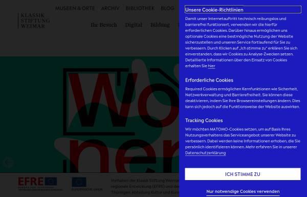 Vorschau von www.klassik-stiftung.de, Klassik Stiftung Weimar
