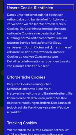 Vorschau der mobilen Webseite www.klassik-stiftung.de, Klassik Stiftung Weimar