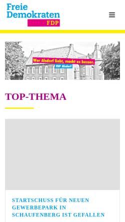 Vorschau der mobilen Webseite fdp-alsdorf.de, FDP Ortsverband Alsdorf