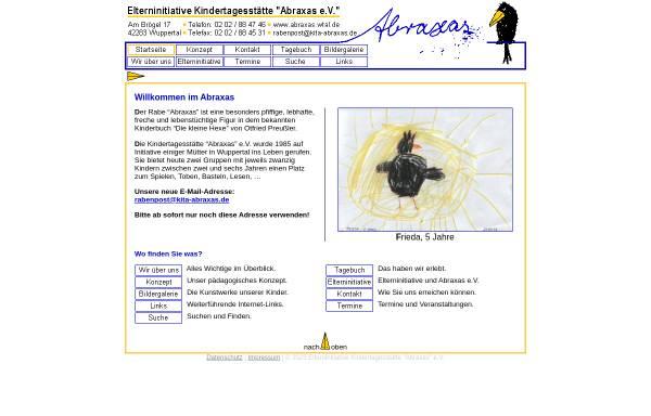 Vorschau von www.abraxas.wtal.de, Abraxas e.V.