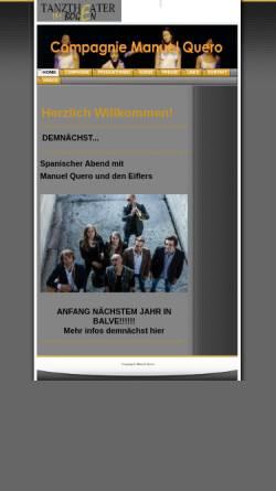 Vorschau der mobilen Webseite compagnie-manuel-quero.de, Compagnie Manuel Quero