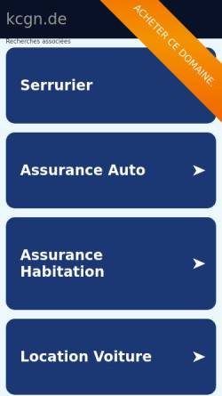 Vorschau der mobilen Webseite kcgn.de, Kanu Club Niederkrüchten