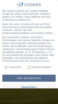 Vorschau der mobilen Webseite www.bavariangc.de, Bavarian Golfclub München-Eicherloh e.V.