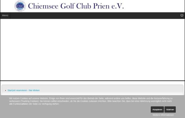 Vorschau von www.cgc-prien.de, Chiemsee Golf Club
