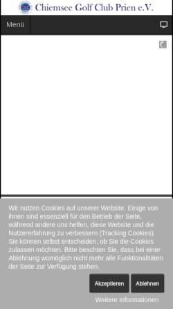 Vorschau der mobilen Webseite www.cgc-prien.de, Chiemsee Golf Club