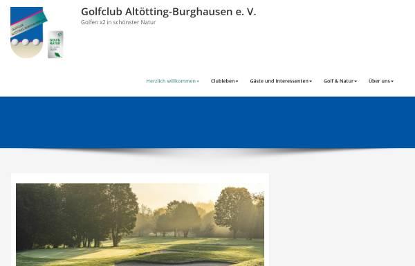 Vorschau von www.gc-altoetting-burghausen.de, Golfclub Altötting-Burghausen