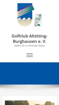 Vorschau der mobilen Webseite www.gc-altoetting-burghausen.de, Golfclub Altötting-Burghausen