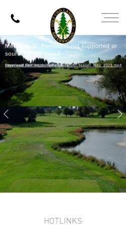 Vorschau der mobilen Webseite www.gc-bayerwald.de, Golfclub Bayerwald