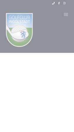 Vorschau der mobilen Webseite www.golf-ingolstadt.de, Golfclub Ingolstadt