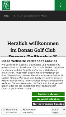 Vorschau der mobilen Webseite www.golf-passau.de, Donau Golf Club Passau-Raßach e.V.
