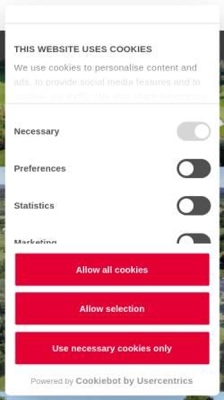 Vorschau der mobilen Webseite www.golf-club-trier.de, Golf-Club Trier
