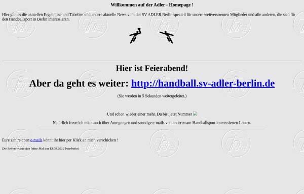 Vorschau von www.adler-mariendorf.de, Adler Mariendorf Handball