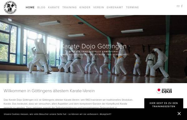 Vorschau von www.karate-goettingen.de, Karate Dojo Göttingen e.V.