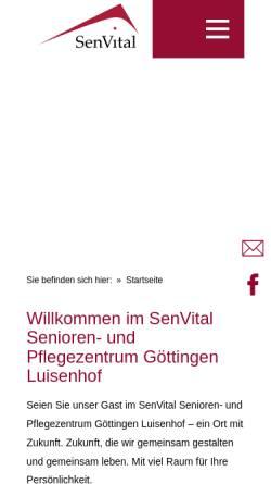 Vorschau der mobilen Webseite goettingen.senvital.de, Altenzentrum Luisenhof Göttingen