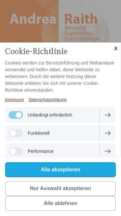 Vorschau der mobilen Webseite www.andrearaith.de, Andrea Raith